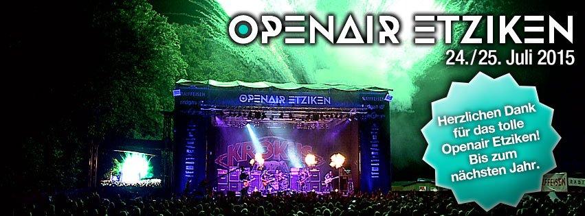 24./25. Juli 2015 Openair Etziken