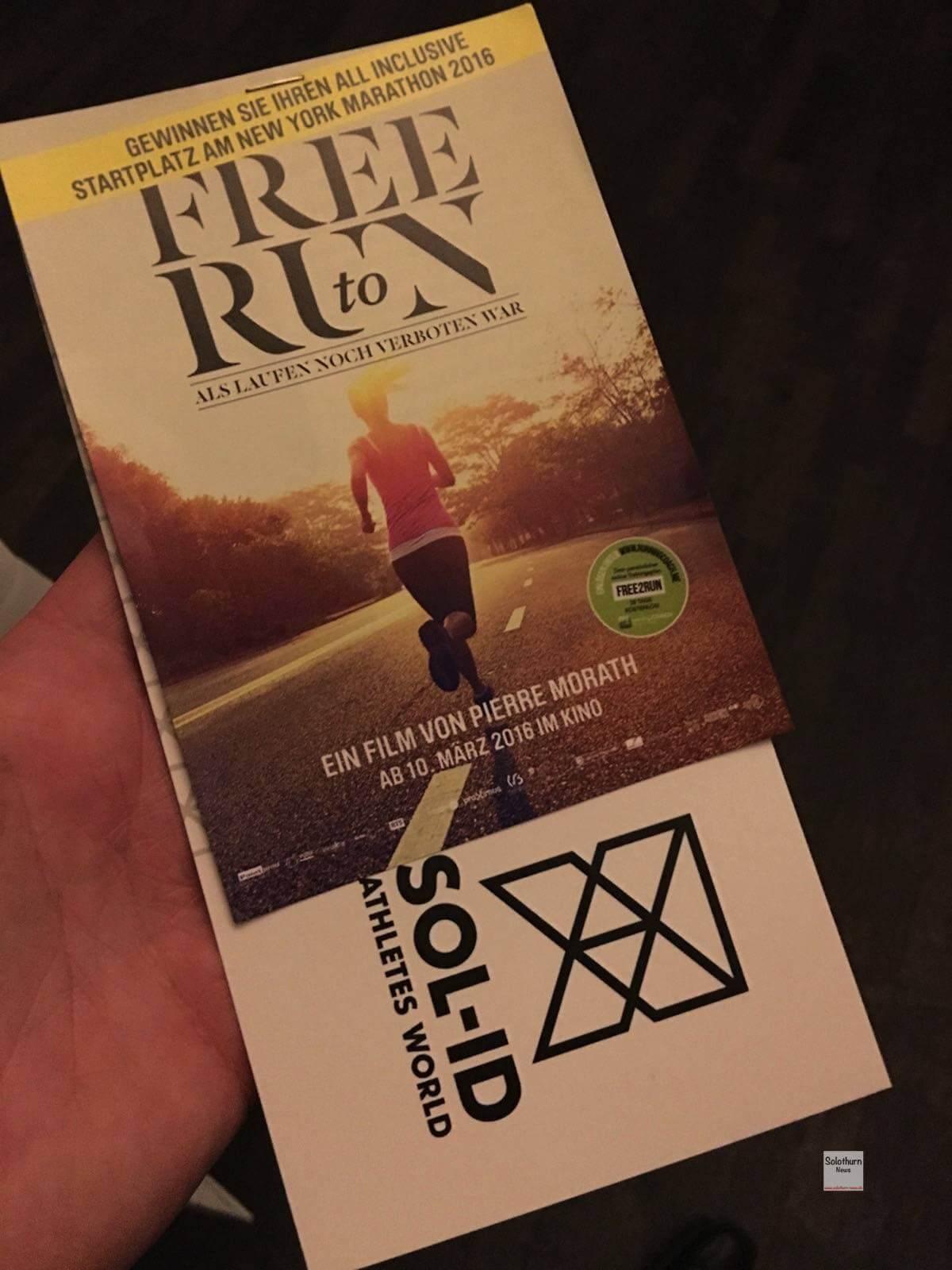 Free to run Filmpremiere und ein jähriges Bestehen von SOL-ID