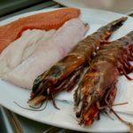 Leckere, frische Zutaten aus dem See/Meer