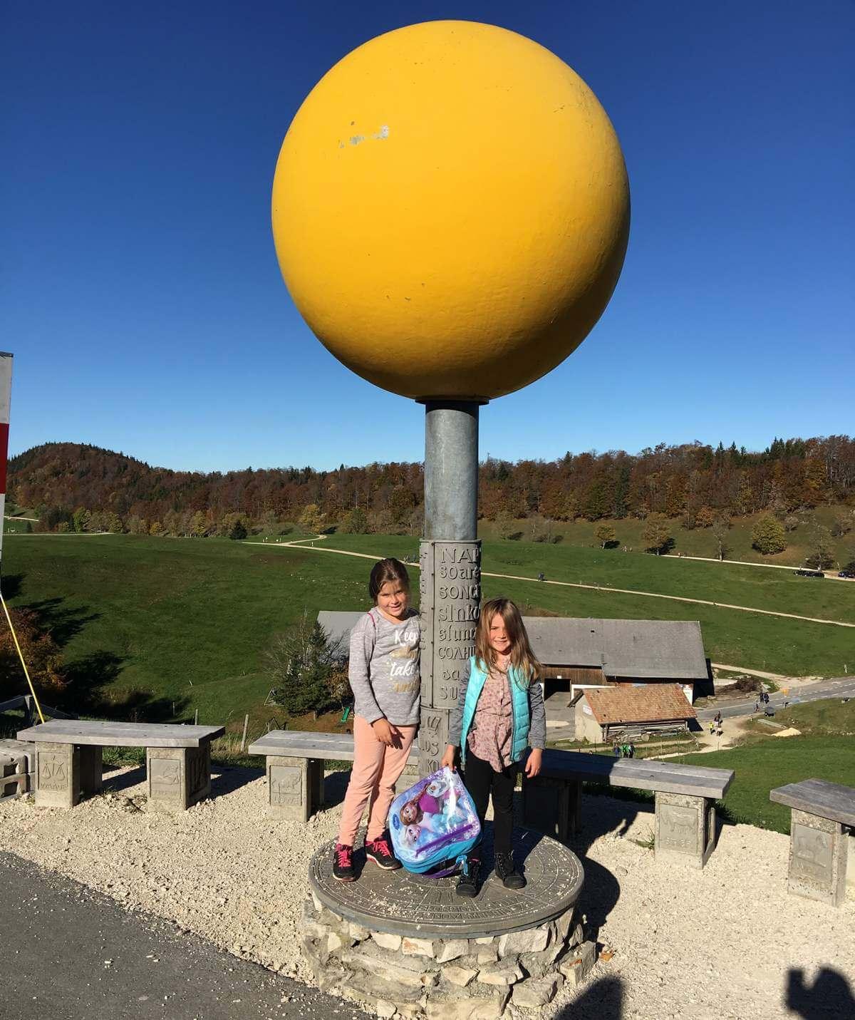 Der Planetenweg auf dem Weissenstein