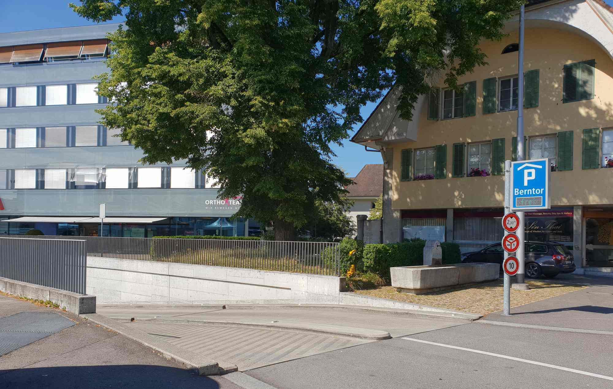 Parkhaus Berntor Einfahrt