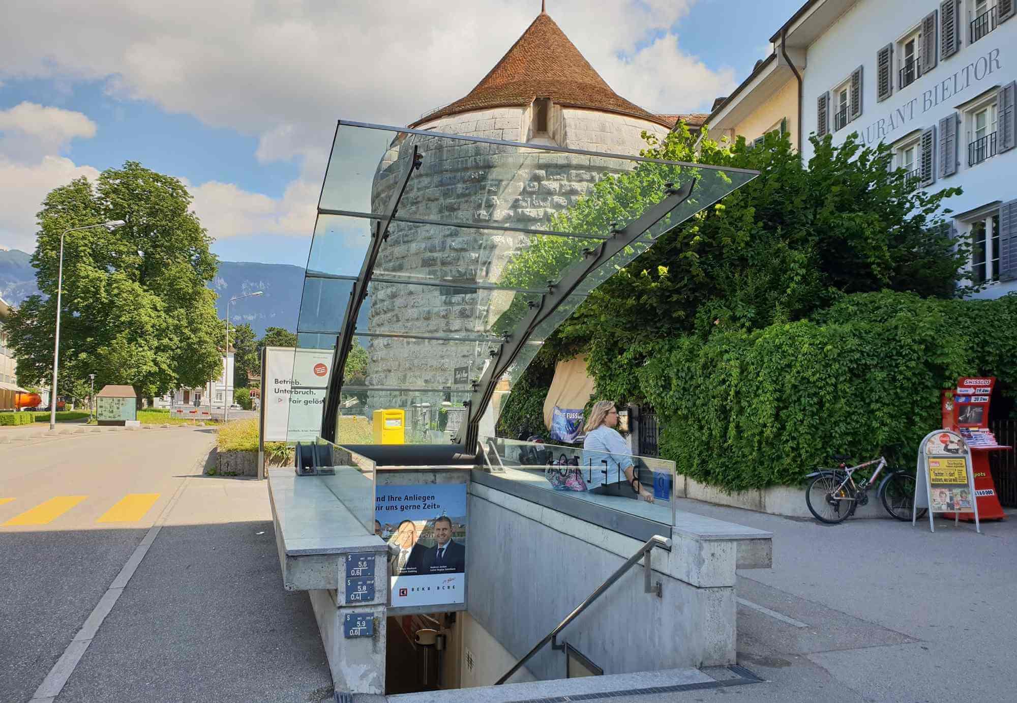 Parkhaus Bieltor Ausgang